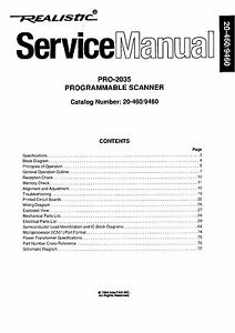 Realistic Pro-2035 Service Manual * CDROM * PDF
