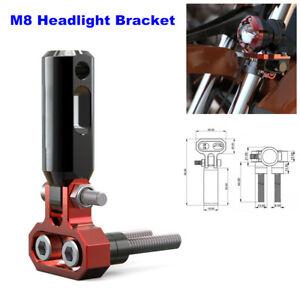8MM Motorcycle Front Bumper Spotlight Support Aluminum Extension Rod Bracket 1PC