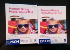 "2 New Sealed Box Genuine OEM Epson S041302 PREMIUM GLOSSY PHOTO PAPER 4"" x 26'"