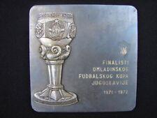 Plaque Final Soccer Cup of Yugoslavia youth Hajduk Vs Sarajevo croatia hrvatska
