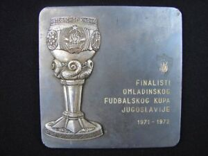 RARE Soccer Marshal TITO Cup of Yugoslavia plaque youth Hajduk Vs Sarajevo