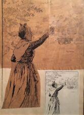 Eugène Cartier - Dessin sur papier calque - v387