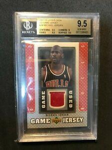 2007-08 Upper Deck UD Game Patch #JM Michael Jordan BGS 9.5