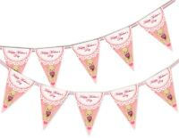 Happy Mothers Day Bunting Banner - Teddy Bear - 15 flags by PARTY DECOR