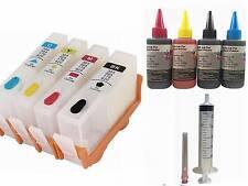Empty Refillable ink Cartridge kit for HP 564 564XL DeskJet 3520 3521 3522 4x100