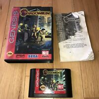 DISCOUNTED Sega Genesis Game SHADOWRUN Complete CIB Shadow Run SAVES Cyberpunk