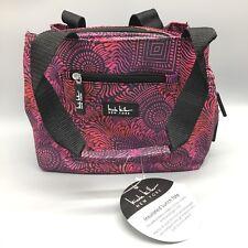 Nicole Miller Insulated Lunch Bag Tote Designer Magenta Purple Copacabana New