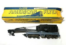 AMERICAN FLYER VINT 1956 INDUSTRIAL CRANE BROWN HOIST #944 3/16 SCALE W/ORIG BOX