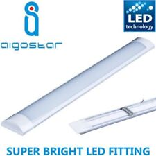 4ft LED Wide Tube Ceiling Strip Light Fitting 36w Cool Daylight 1200mm White 860