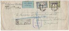 SIERRA LEONE 1942 CENSORED registered cover *FREETOWN-ENGLAND*