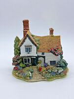 Pretty & Collectible Lilliput Lane White Old Rectory House with Bicycle (1997)