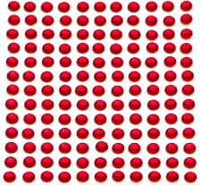 260 x 5mm Self Adhesive Red Diamante Stick on Crystals Sticky Rhinestone Gems
