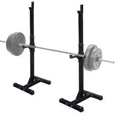 Exercise Adjustable Rack Standard Solid Steel Squat Stands Barbell Bench Press