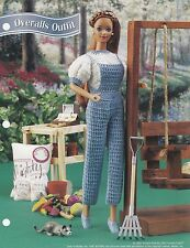 Overalls Outfit, Annie's Fashion Doll Clothes Crochet Pattern Leaflet FC35-03
