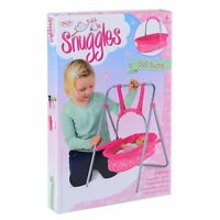 Snuggles Doll Swing Cradle Metal Frame Removable Carry Cot Adjustable Handle Toy