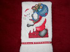 Christmas Hand Towel Bathroom or Kitchen Down the Chimney Handmade New