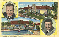 Residences of Bud Abbott,Encino & Lou Costello,No.Hollywood,Linen,# 865,c.1940s