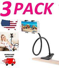Phone Holder Bed Gooseneck Mount Flexible Arm 360 Mount Clip Bracket Clamp Stand