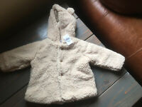 NWT Baby Gap Girls or Boys Sherpa Footed Pants Ivory 3-6 Months $25