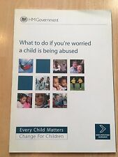 What to do if you're Worried a Child is being Abused HM Government Paperback