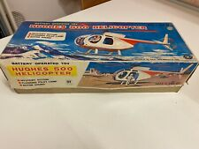 HUGHES 500 HELICOPTER 1970s Masudaya Made in Japan Tin toy