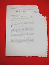 508 LOI&DECRET CONVENTION NATIONALE 1792 COMPAGNIE CANONNIER CANON ARME GUERRE