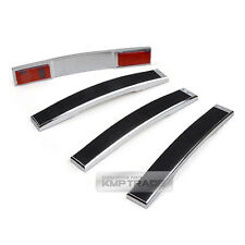 Universal Door Guard Bumper Scratch Protector Garnish Black 4P for All Vehicle