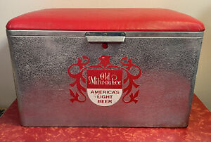 Rare Vintage Cronstroms Old Milwaukee Beer Cooler w/ Tray Insert