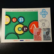 Andorra French N°179/180 Europa Card Maximum Premier Day FDC 1967