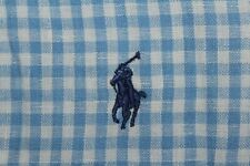 RALPH LAUREN Men's 3XB BIG Baby Blue & White Gingham Check Short Sleeve Shirt