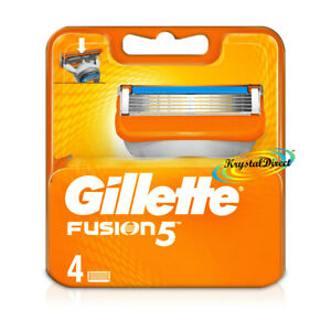 Gillette Fusion5 Pack of 4 Replacement Shaving Razor Blades 100% Genuine
