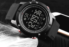 Black Military Style Smart Watch Digital Mens Skmei Activity Tracker iOS ANDROID