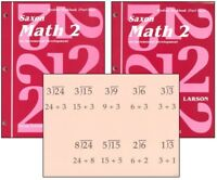 Saxon Math 2 Student Workbooks & Fact Cards Set Homeschool 1st Edition 2nd Grade
