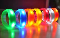 BANGLE BRACELET FLASH GLOW BAND EL LIGHT-UP LED MOTION SOUND ACTIVATED WRISTBAND