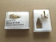 1 Pieza Aguja repuesto (Stylus Company) N70B para Shure N72B / M70B / M72B