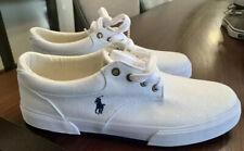 Ralph Lauren Polo Mens Felton Canvas Shoes White Size 11 NEW