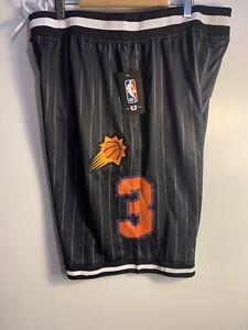 NBA Phoenix SUNS Basketball Chris Paul BLACK Purple Game Shorts L