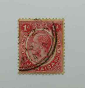 Jamaica KGV 1912-20 1d red fine used BN167