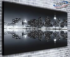 New York at Night Manhattan Panoramic Canvas Print XXL 4.5 ft wide x 2 ft high