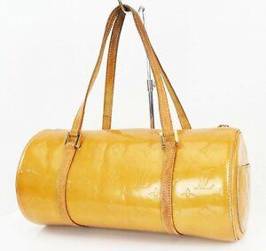 Authentic LOUIS VUITTON Bedford Beige Vernis Leather Hand Bag Purse #38913