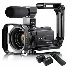 4K Video Camera Camcorder with Microphone, VAFOTON 48MP Vlogging Camera for You