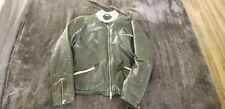 Armani jeans mens leather jacket