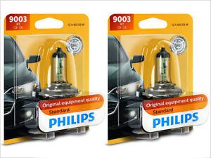2x NEW PHILIPS STANDARD OEM HALOGEN H4 9003B1 HEADLIGHTS/FOGLIGHTS BULBS
