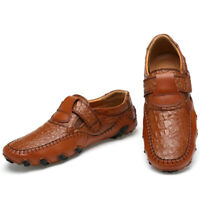 Fashion Men's Leather Casual Shoes Breathable Antiskid Loafers Slip on Moccasins