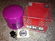 HKS Oil Filter + Magnetic Sump Plug for Subaru Impreza WRX Sti 2.0L