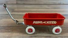 Vintage Radio Flyer Red Metal Mini Wagon White Wheels Steel Line Chicago USA