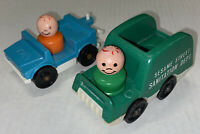 Mixed LOT Fisher Price Little People Sesame Street Sanitation Truck Car 2 People