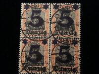 Deutsches Reich Freie Stadt Danzig 1920 - MiNr. 16  Aufdruck der neuen Wertstufe