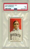 1909 T206 Dick Rudolph Toronto Piedmont 350 Back PSA 3.5 New Grade