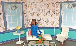 "DOLL SCENE Barbie, Poppy, FR,  DIY Diorama Backdrop 33"" X 15""  ""UPPER WEST SIDE"""